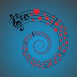 Música de hoja de los corazones Imagenes de archivo