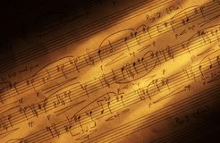 Música de hoja manuscrita Foto de archivo