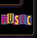 Música de neón Imágenes de archivo libres de regalías