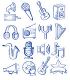 Música dibujada mano Fotos de archivo