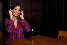 Música e vinho Fotografia de Stock Royalty Free