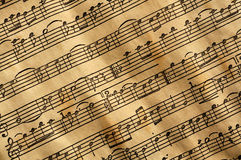 Música envejecida Foto de archivo libre de regalías