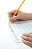 Música escrita à mão Imagens de Stock