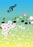 Música na mola Imagens de Stock Royalty Free