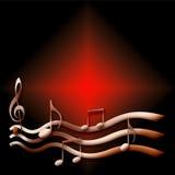 Música na obscuridade Foto de Stock Royalty Free