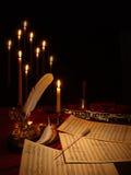 Música que compone Imagen de archivo libre de regalías