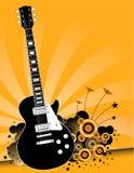 Música rock de la guitarra eléctrica   Fotografía de archivo libre de regalías