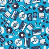 Música sem emenda do teste padrão Fotografia de Stock