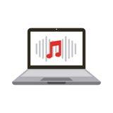 Música y diseño de la tecnología Foto de archivo