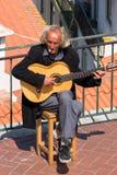 Músico de la calle de Lisboa Foto de archivo