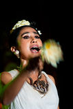 Músico e cantor tradicionais fêmeas. Fotos de Stock Royalty Free