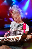 Músico punky Imagen de archivo libre de regalías
