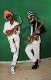 Músicos cobardes, jugadores del saxo Fotografía de archivo libre de regalías