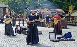 Músicos de los bardos bohemios Fotos de archivo libres de regalías