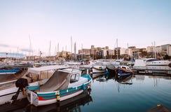 Msida, Malta - March 30, 2018: Msida yacht Marina docks near the Royalty Free Stock Image