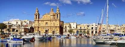 Msida Parish Church. Valletta - Malta stock photography