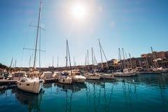 Msida yacht Marina docks near the Valetta Malta`s capital. Royalty Free Stock Image