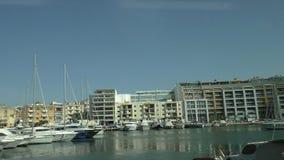 Msida yacht marina, Valletta, Malta stock video