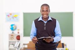 Męski afrykański nauczyciel Obrazy Royalty Free