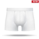 Męski biały majtki wytyczne również zwrócić corel ilustracji wektora Obrazy Stock