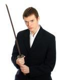 Męski urzędnik z kordzikiem. Obraz Stock