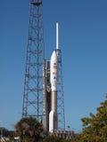 MSL e o atlas 5 Rocket fotografia de stock