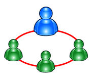 Msn group  people icons Stock Photo