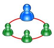 Msn Gruppen-Leuteikonen Stockfoto