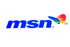 MSN logo. MSN website logo on internet royalty free stock photos