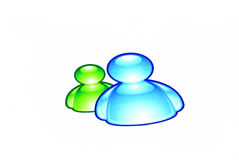 MSN messenger logo Royalty Free Stock Image