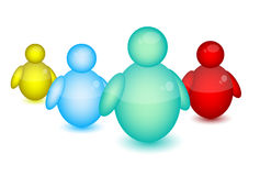 Msn people icon. And white background Stock Photos