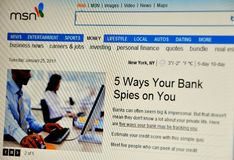Msn website Stock Photography
