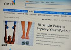 Msn website Royalty Free Stock Photography