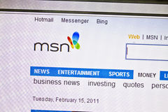 MSN website Stock Images