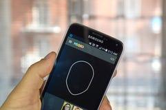 MSQRD APP au téléphone androïde Photo stock