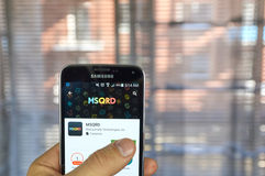 MSQRD app op androïde telefoon Royalty-vrije Stock Foto