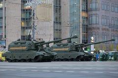 Msta-S短程高射炮 图库摄影
