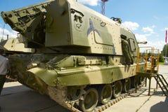 Msta-S2S19M1自走152 mm短程高射炮 库存图片