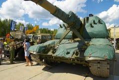 Msta-S2S19M1自走152 mm短程高射炮 免版税库存照片