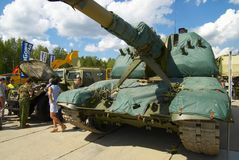 Msta-S2S19M1 gemotoriseerde 152 mm-houwitser Royalty-vrije Stock Foto