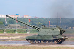Msta-S self-propelled artillery Stock Images