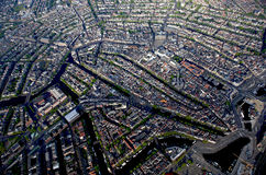 Msterdam, luchtmening van de historische stad centr Stock Foto