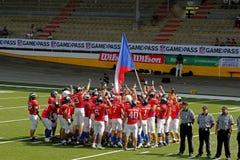 Mästerskap för amerikansk fotboll för euro 2013 Arkivbild