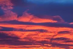 Místico de la puesta del sol Foto de archivo libre de regalías