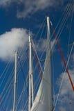 Mástiles del barco de vela   Imagen de archivo