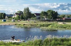 Mstyora, Russia-giugno 5,2015: Paesaggio rurale di anno Immagini Stock Libere da Diritti