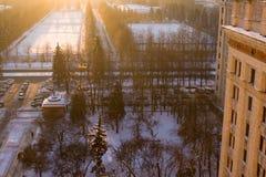 msu утра Стоковая Фотография RF
