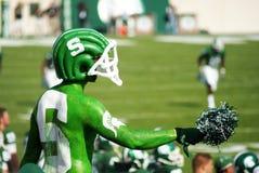 MSU contra o fan de futebol do noroeste Imagem de Stock