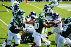 MSU contra o futebol do noroeste Imagem de Stock Royalty Free