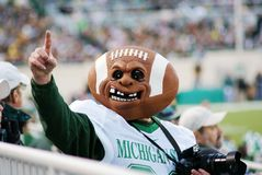 MSU contre le Michigan, passioné du football Photographie stock libre de droits